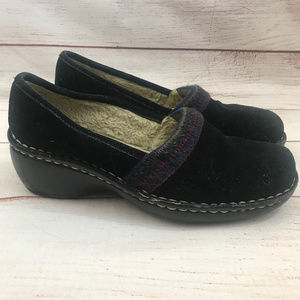 Naturalizer Suri Black Soft Leather Clogs